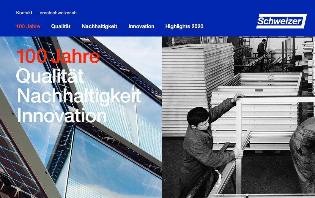 stierli digital solutions erstellt Jubiläumsseite für Ernst Schweizer